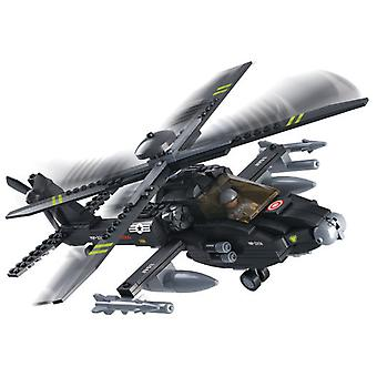 Sluban Army AH-64 Apache Helicopter (Jouets , Constructions , Véhicules)