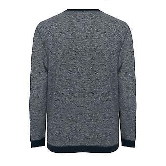 BadRhino Navy Marl Crew Sweatshirt