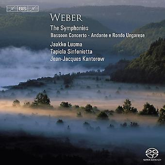 Luoma/Tapiola Sinfonietta - Weber: De symfonieën; Fagot Concerto; Andante E Rondo Ungarese [SACD] USA import