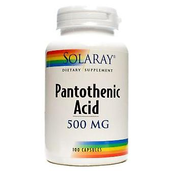 Solaray Acid Pantothenic 500 mg 100 Capsules (Vitamins & supplements , Vitamins)