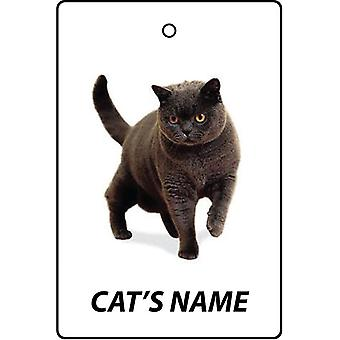 Personalised British Shorthair Cat Car Air Freshener