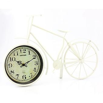 36CM BIKE CLOCK CREAM MEDIUM DECORATION GIFT COLLECTION