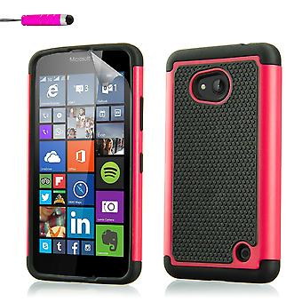 Shock proof case for Microsoft Lumia 640 + stylus - Hot Pink