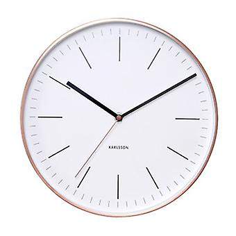 Karlsson White Minimal Copper Steel Wall Clock