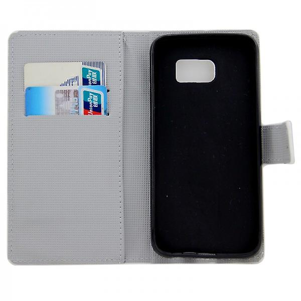 Cover wallet pattern 6 for Samsung Galaxy S6 G920 G920F