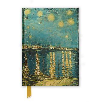 Van Gogh Starry Night over the Rhone (Foiled Journal) (Flame Tree Notebooks) (Hardcover)