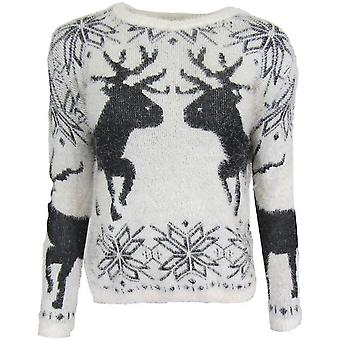 Reindeer Fluffy Winter Jumper