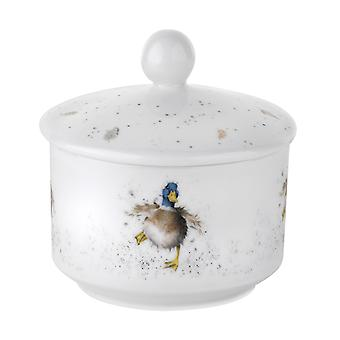 Royal Worcester Wrendale Covered Sugar Pot