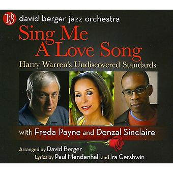 Berger, David Jazz Orchestra - Sing Me a Love Song [CD] USA import