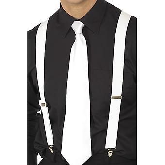 Mafia braces white to the 20s mafia costume