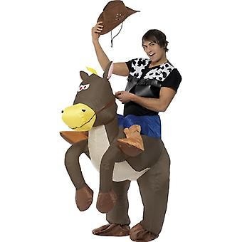 Cowboy and horse costume inflatable cowboy costume