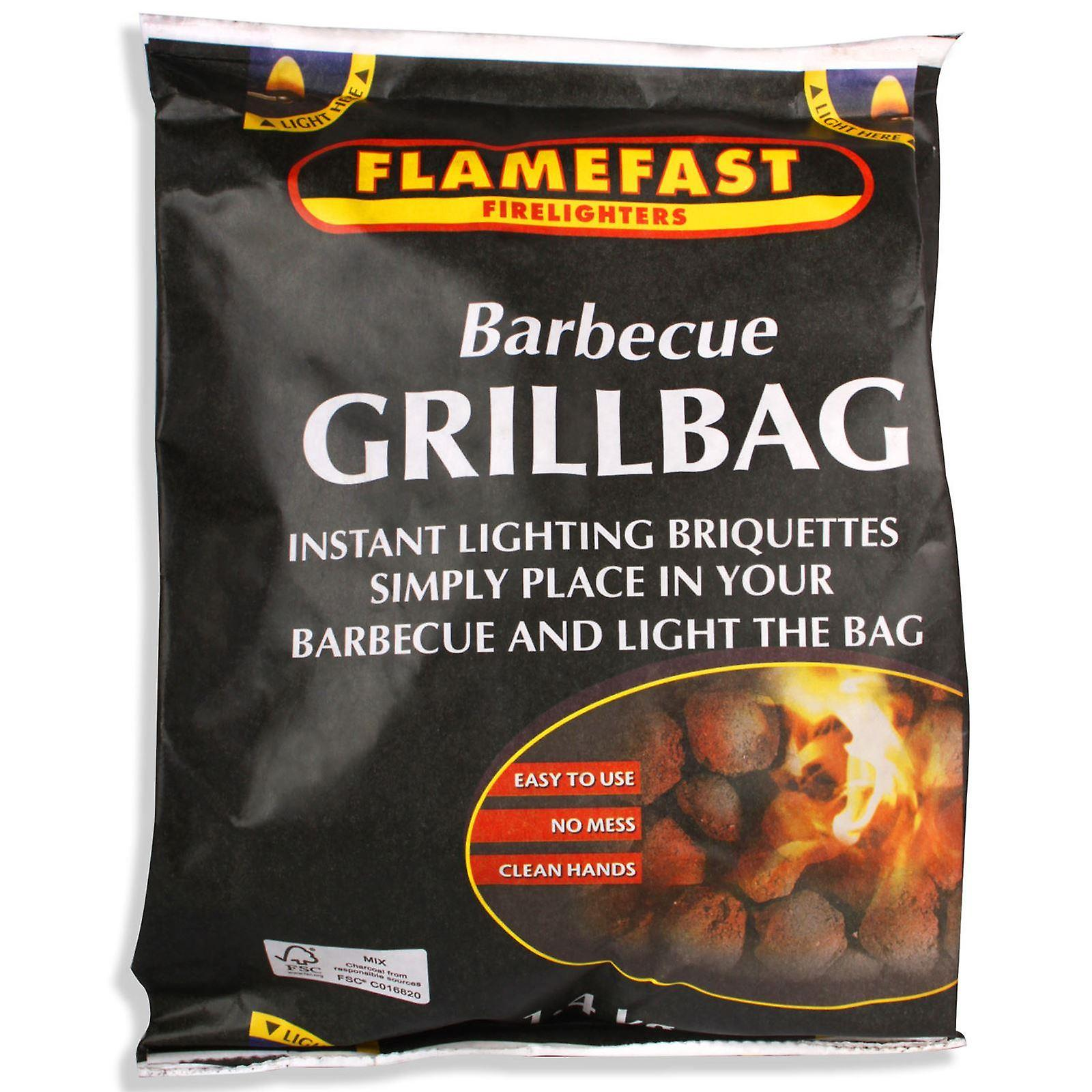 Flamefast Barbecue Grill Bag 1.4kg