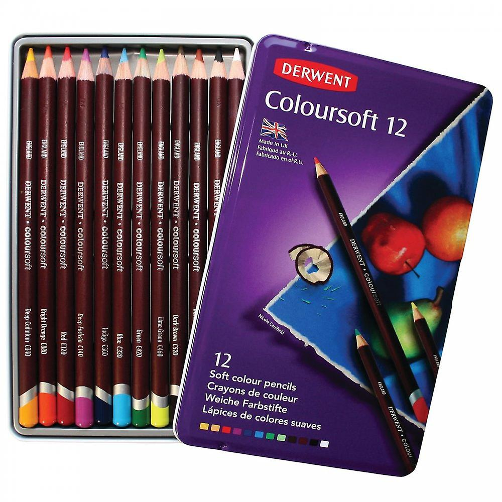 Derwent Coloursoft 12 Tin