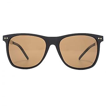 Polaroid Timeless Wayfarer Style Sunglasses In Matte Black Gold Polarised