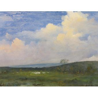 Albert Bierstadt - Clouds Over California Poster Print Giclee