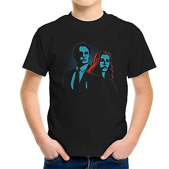 Truth Seekers Mulder and Skully X Files Kid's T-Shirt