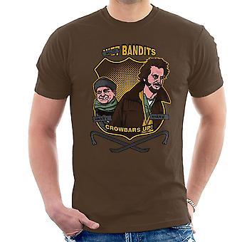 Sticky banditter hjem alene mænd T-Shirt