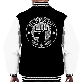 Elf Made Santa Claus Christmas Stamp Men's Varsity Jacket