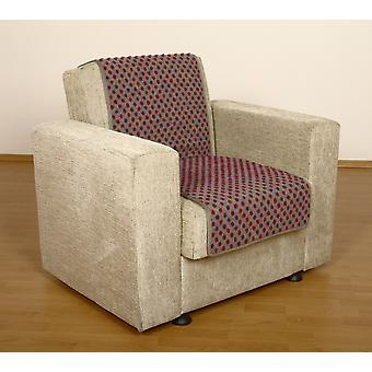 Seat saver wool studs silver 175 x 47 cm