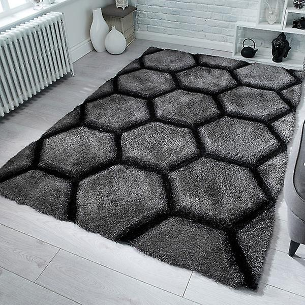 Rugs -Verge Honeycomb in Charcoal