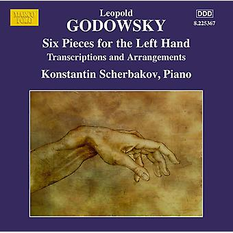 Godowsky / Scherbakov, Konstantin - klaver Edition Vol. 13 seks stykker for venstre hånd [CD] USA import