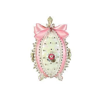 Pinflair Carnation Pink Faberge-Style Easter Egg Pin & Sequin Craft Kit