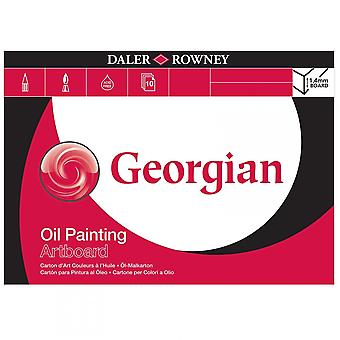 Daler Rowney Georgian Oil Painting Artboard Pad - Sizes Listed