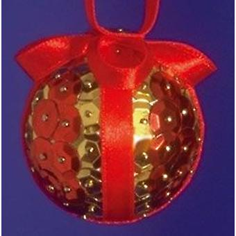 SALE - Pinflair Sequin & Pin Craft Kit to Make 10 Red Christmas Baubles