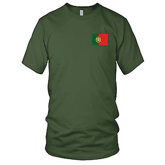 Nationalflagge Portugal Portugiesisch Land - Stickerei Logo - 100 % Baumwolle T-Shirt Damen T Shirt