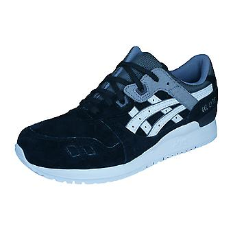 Asics Gel Lyte III Mens Leather Running Trainers / Shoes - Black