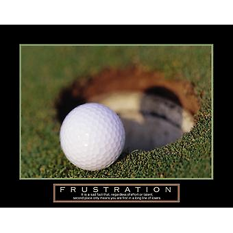 Frustration - Golf Ball affisch Skriv (28 x 22)
