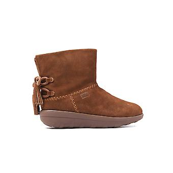 Women's Mukluk Shorty II Boots With Tassels - Chestnut Suede