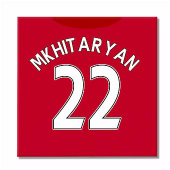 2016-2017 Man United Canvas Print (Mkhitaryan 22)