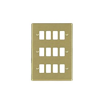 Hamilton Litestat Hartland Satin Messing 12g Apert Gridfix Platte + Netz