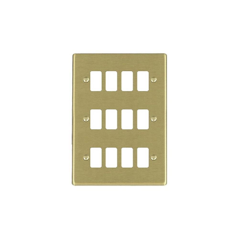 Hamilton Litestat Hartland Satin Brass 12g Apert Gridfix Plate+Grid