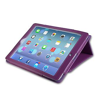 Caseflex Ipad Air Textured Leather-Effect Stand Cover - Purple