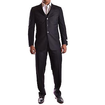 Armani Collezioni men's MCBI024040O Black wool suit