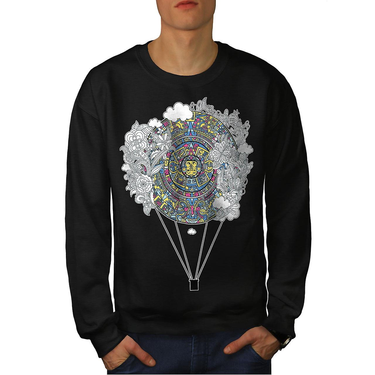 Ornement aztèque hommes Vintage noirSweatshirt