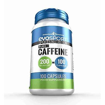 EvoSport Caffeine 200mg Capsules for Focus and Stamina - 100 Capsules - Sports Nutrition - Evolution Slimming