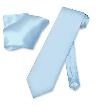 Biagio 100% SILK Solid NeckTie & Handkerchief Men's Neck Tie Set