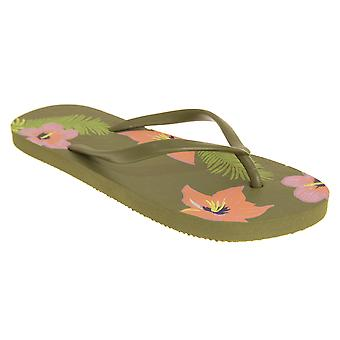 Sand Rocks Womens/Ladies Tropical Flowers Flip Flops