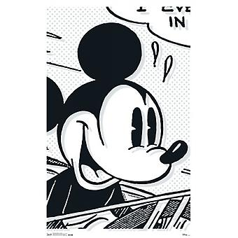 Mickey Mouse - Art Deco Poster Print