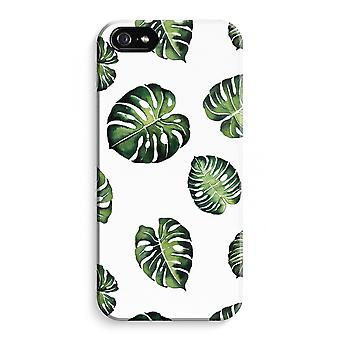 iPhone 5C Full Print Case (Glossy) - Tropical leaves