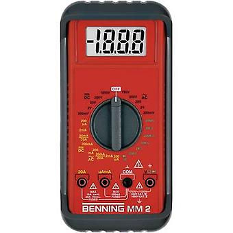 Handheld multimeter Digital Benning MM 2 Calibrated to: Manufacturer's standards (no certificate) CAT II 1000 V, CAT II
