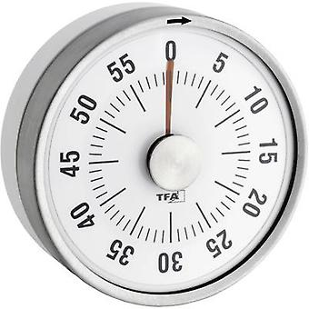 Timer TFA 38-1028-02 Puck White Analogue