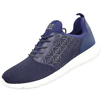 EA7 by Emporio Armani 248052 8p299 Eagle All Over Blue Runner Trainer