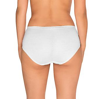 Sans Complexe 609073-Blanc Women's Classique Coton White Knickers Panty 2 Pack Brief