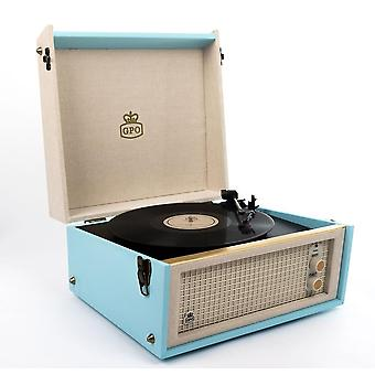 GPO BERMUDA Record Player-Blue