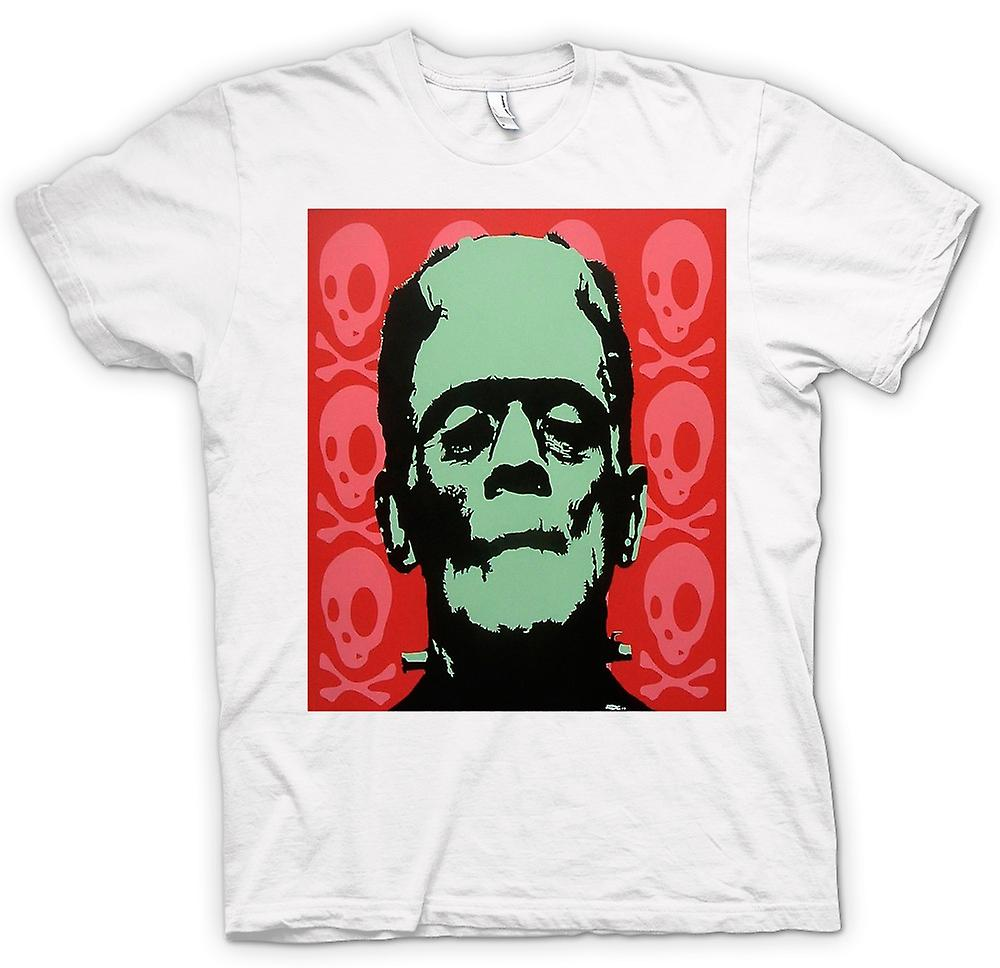 Womens T-shirt-Frankenstein - Pop Art - skräck