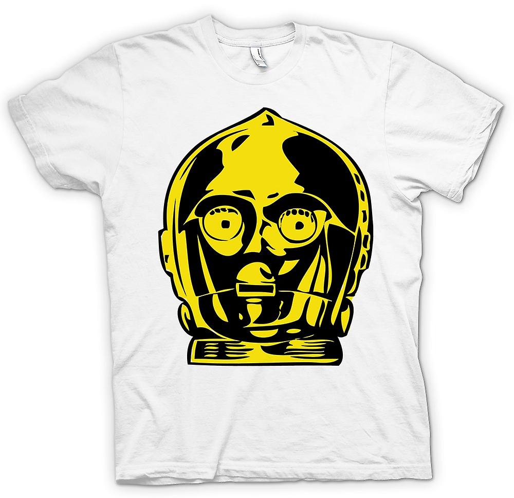 Mens T-shirt - C3PO Head - Star Wars